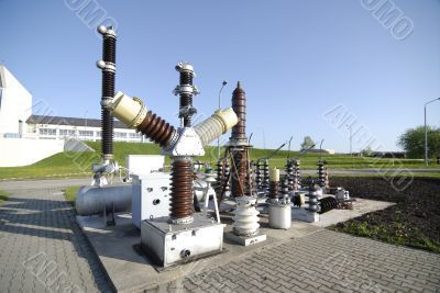 A row of power equipment