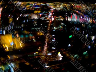 Las Vegas strip blur