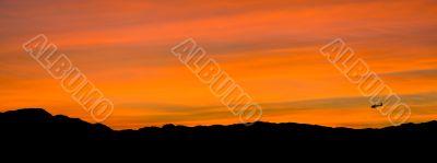 Sunset in Las vegas. Panorama