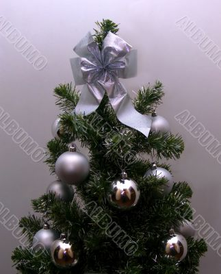 Christmas-tree in silvery tones