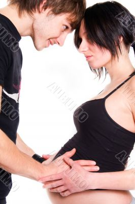 young couple expecting a baby