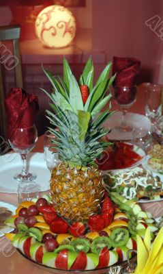 Pineapple stands on the table