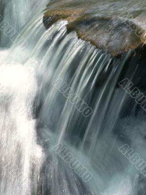 close-up water stream