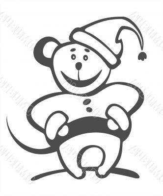 christmas mouse contour
