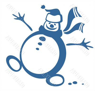 happy snowball contour