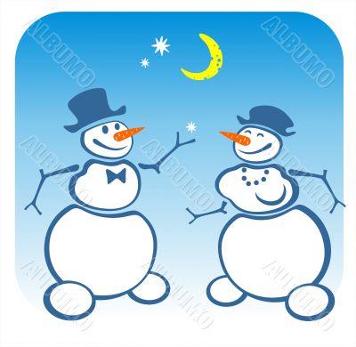 two snowballs