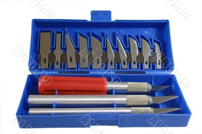 Box with cutters