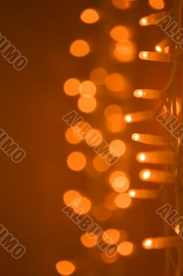 Golden glow light decoration background