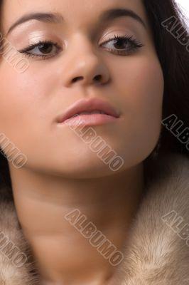 interested woman portrait