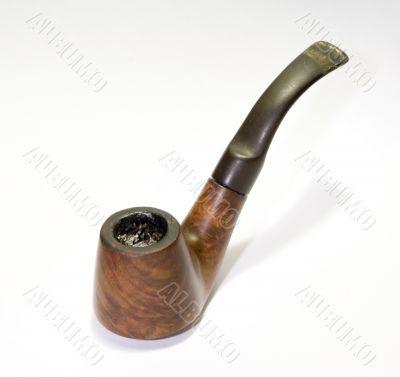 Old smoked English briar pipe 2
