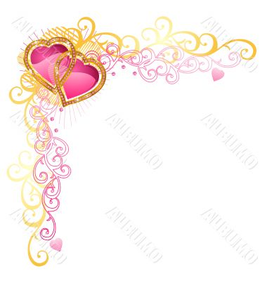 Heart of love / Vector Corner / Valentine`s Day