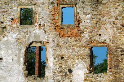 Old hole wall bricks.