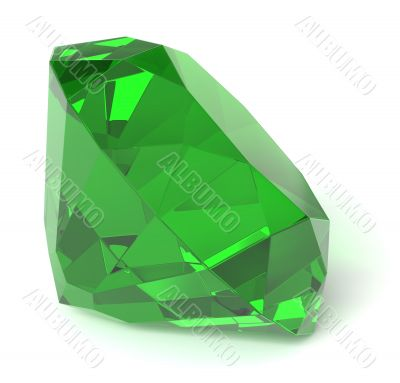 Emerald gemstone isolated
