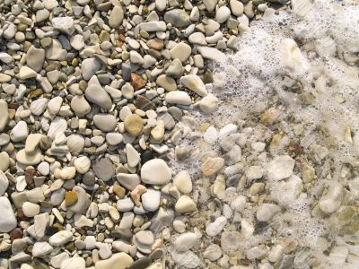 Smooth river stone