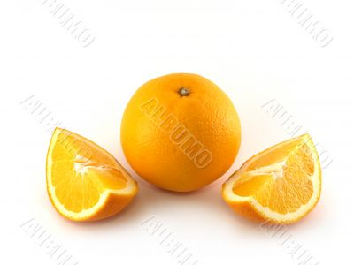 Orange and two slices
