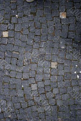 Curve block paving