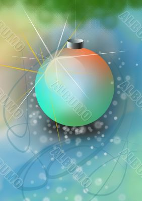 Soft christmas tree bubble, background