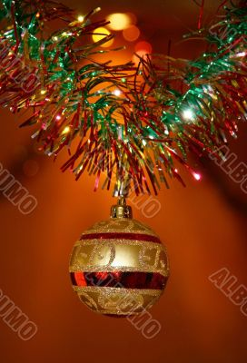 New Year`s ornament.