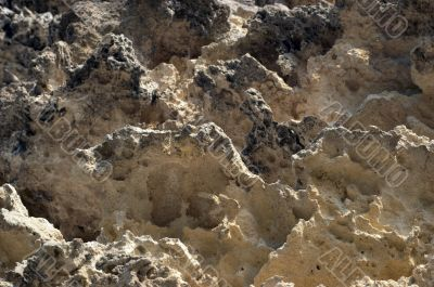 weathered limestone cliff