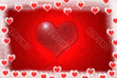Saint Valentines day postcard