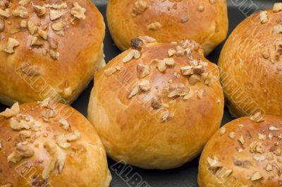 baking bun close up