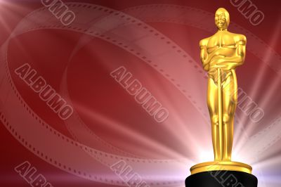 Film award with film strips
