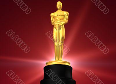 Film award in red