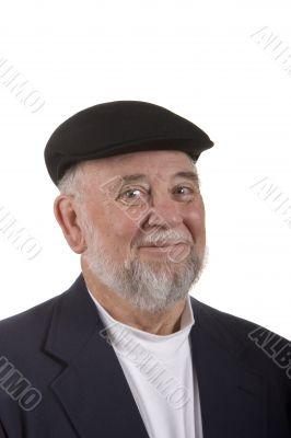 Older Smiling Man with Hat