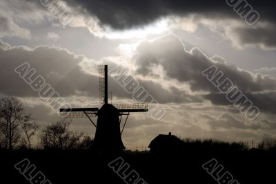 The windmill at the banks of the Naarder Lake