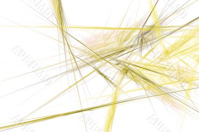 Abstract web from yellow strings