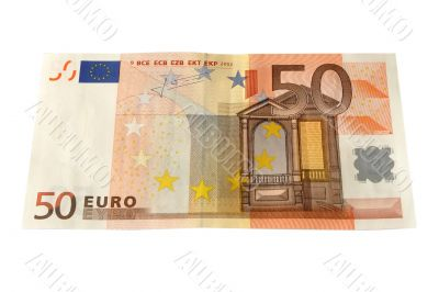 Fifty Euro bank note