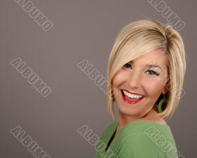 Blonde Smiling Earring