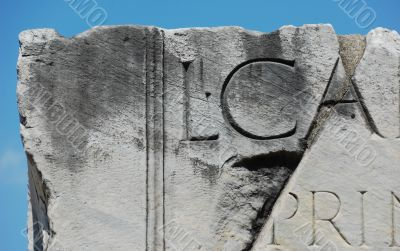 Carved Marble Lettering