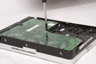 Repair hard disk drive