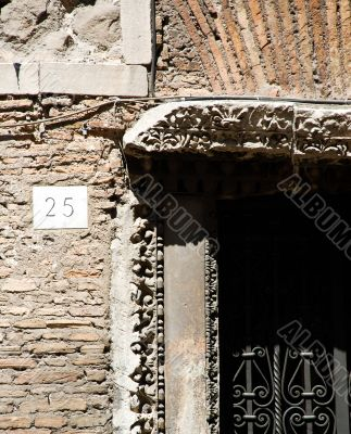 Portico di Octavia close up