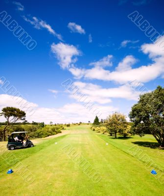 Tee off on a beautiful golf course