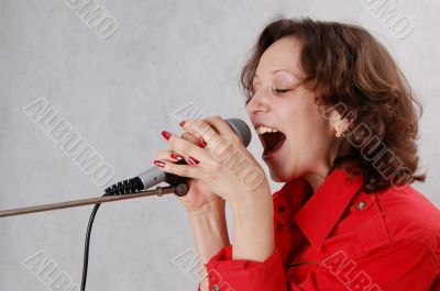 a singing woman