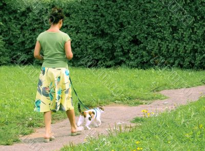 Walk with a cat.