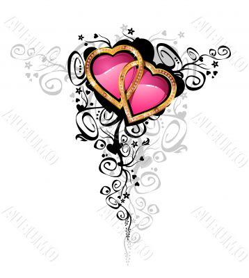 Hearts of love / vector /
