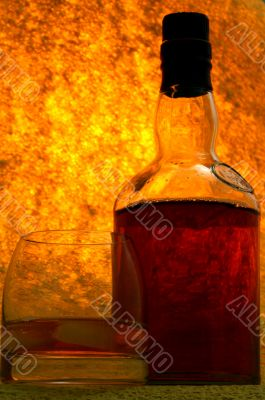 Single Malt Whiskey in glass