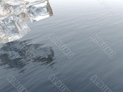 icy blocks