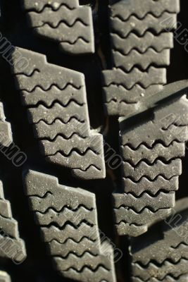 Detail, snow tire tread