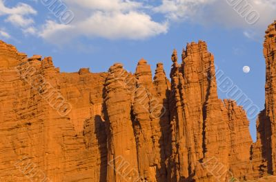 Fisher Towers and Moon