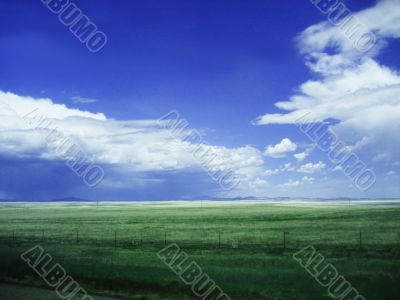 Background of Sky and Grass v1