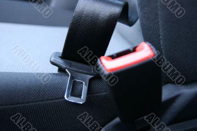 Not fastened car seat belt