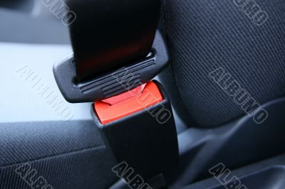 Fastened car seat belt