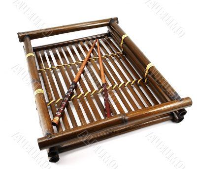 Bamboo tray.