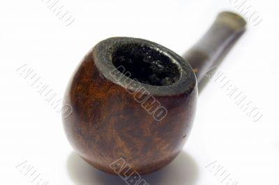 Old smoked English briar pipe