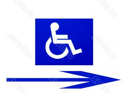 Handicap Symbol with Right Arrow
