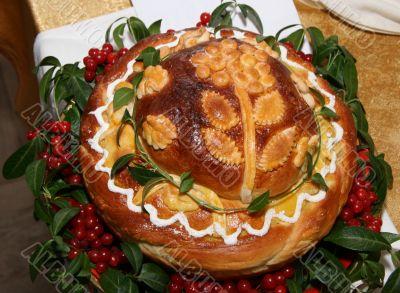 Ukrainian festive Bread for wedding